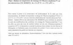 Note d'information (Haemocomplettan P 1gr)