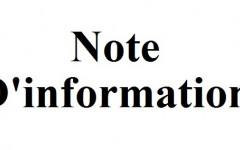 Note d'information (Spécialités contenant du thiocolchicoside administrées