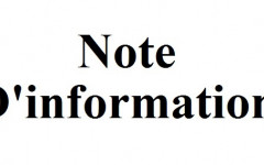 Note d'information (Recommandations pour l'utilisation des pompes de